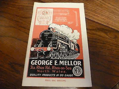 Model Train Catalogue George Mellor Gem Rialway Models Rhos-On-Sea 1954/55