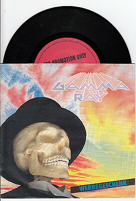 "7"" Single Gamma Ray Promo  One With The World Heavy Metal"