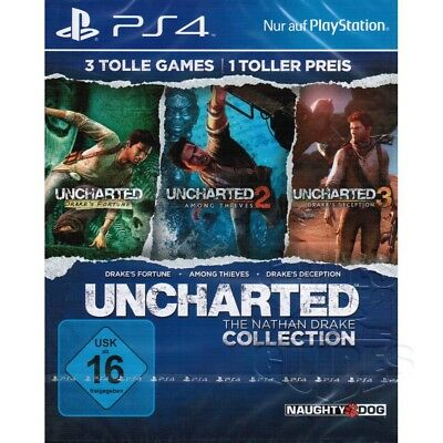 Uncharted 1 2 3 The Nathan Drake Collection Sony Playstation 4 Spiel PS4 NEU&OVP