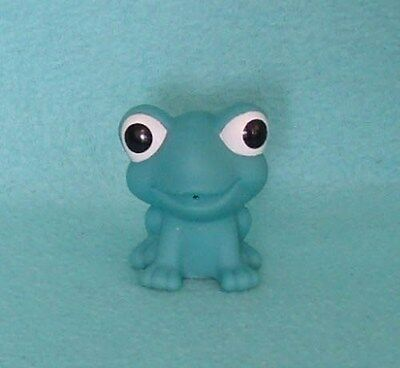 Vintage Squeeze Toy Frog in Blue/Green Vinyl