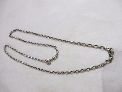 ANTIQUE c1890 VICTORIAN STERLING SILVER NECKLACE 61  CM OR 24  INCH j6403