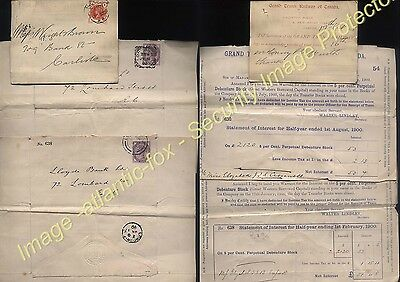 1895-1920 London  GRAND TRUNK & PACIFIC RAILWAY CO of CANADA postal Dividends
