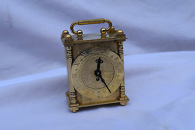 smith  brass engraved  carriage clock small 1950 s