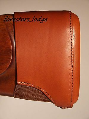 Leather Slip On Recoil Pad, Stock Extension, shotgun, rifle, hunting, shooting