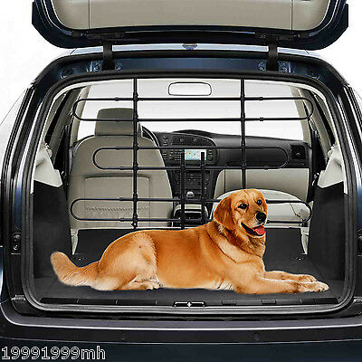 "Pawhut 33.5""-59"" Deluxe Vehicle Auto Car Pet Dog Barrier Fence Cage Safety Gate"