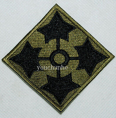 U.s. Army 4Th Infantry Division Shoulder Embroidered Patch -32288