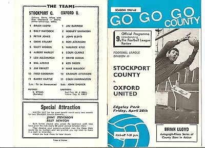 7 Stockport County Home Programmes From 1967 - 1979