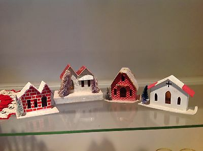 Vintage Christmas Putz Houses (4) Japan