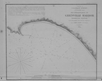 1854 Reconnaissance of Grenville Harbor, Wasington Territory--USCS