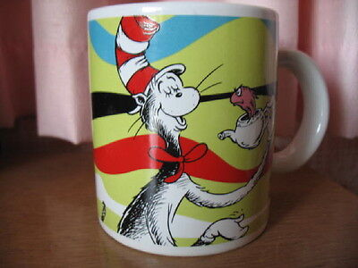 "Collectible straight sided ""CAT IN THE HAT"" Dr. Seuss mug, CAT & FISH"