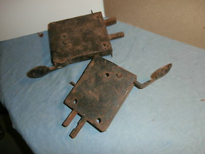 2 ANTIQUE DOOR HARDWARE METAL THUMB  LATCH - for PARTS