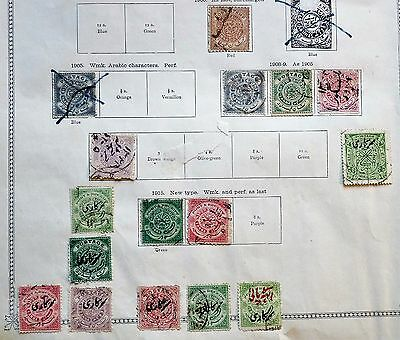 India/Hyderabad - Page with 16 x  Early Issue Fine Used.