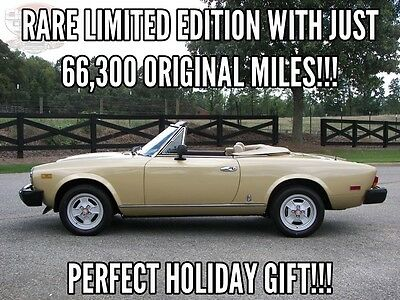 1981 Fiat Other Limited Edition #108 Rare Limited Edition 1981 Fiat Spider LOW MILES, Nicely Restored Show and Go!!