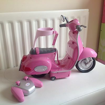 Baby Born Doll Motorbike. Not Working Via Remote But Great Toy To Play With