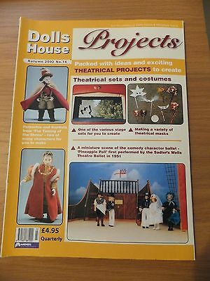 Dolls House Projects Magazine No.16 THE THEATRE & THEATRICAL PROJECTS