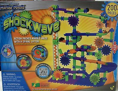 """Marble Mania """"Shockwave"""" Techno Gears 200+ Pieces in Original Box Excellent Cond"""