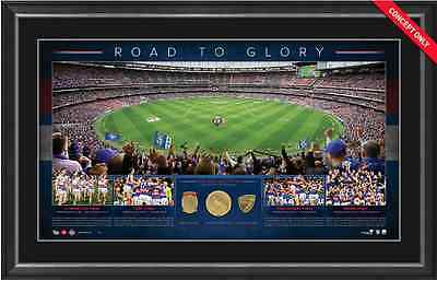 """Western Bulldogs """"The Road To Glory"""" 2016 AFL Premiers Panoramic Framed COA"""