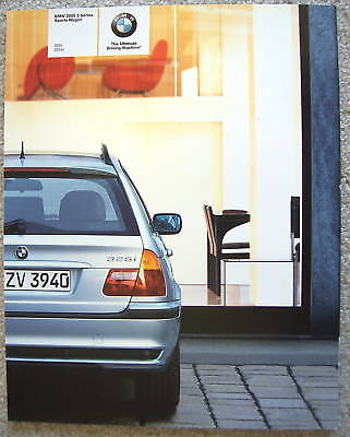 Bmw Official 3 Series Sports Wagon Prestige Sales Brochure 2005 Usa Edition