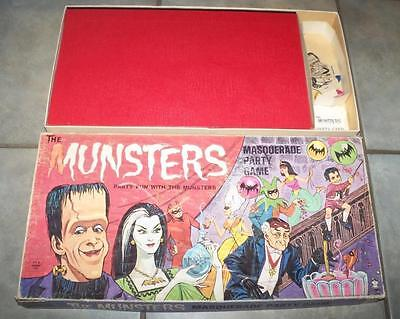 1965 Vintage The Munsters Masquerade Party Game Tv Show Hasbro Herman Lily Eddie
