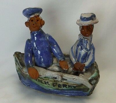 Seven Springs Pottery Marie Whitby Edwardian Couple Rowing Boat