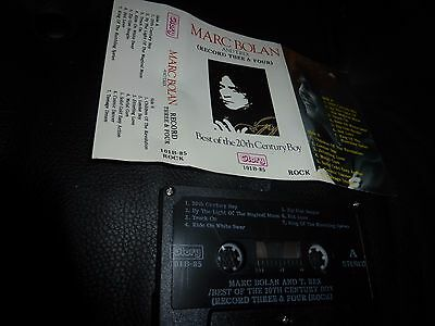 marc bolan rare indonesian glory records cassette tape 14 tracks best of 20th