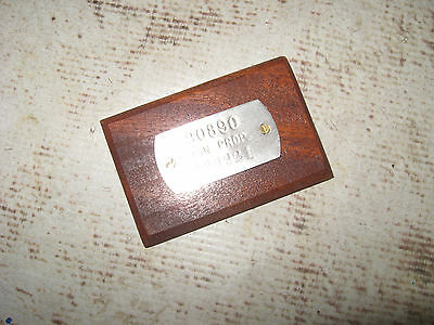 WWII US Navy Ship Data Plate Property Tag