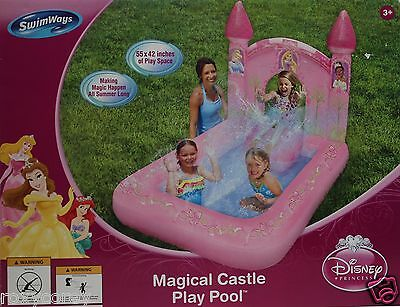 Disney SwimWays Princess Magical Castle Inflatable Play Pool 55x42 in Ages 3+