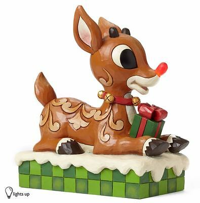Jim Shore Rudolph the Red Nosed Reindeer Light Up Christmas Figurine 4048591 New
