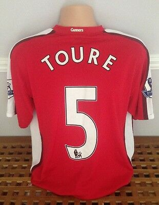 Kolo Toure Official Player Issue Or Match Worn Arsenal Football Shirt Jersey