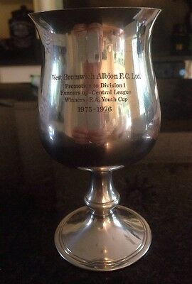 Silver Goblet West Bromwich Albion 1975 1976 Alan Everiss Secretary FA Youth Cup