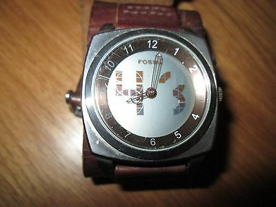 Mens All Stainless Steel Fossil Big Tick Watch Bg- 1013