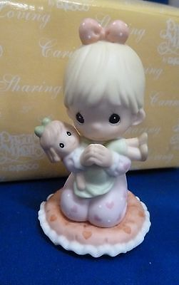 Precious Moments  I Pray the Lord My Soul to Keep 2001 NIB Girl with Doll
