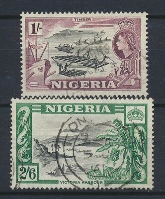 No: 47199 - NIGERIA - LOT OF 2 OLD SHILLINGS STAMPS - USED!