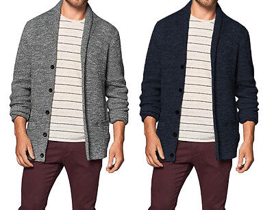 Abercrombie and Fitch Mens Sweater NEW Heather Shawl Collared Cardigan $78
