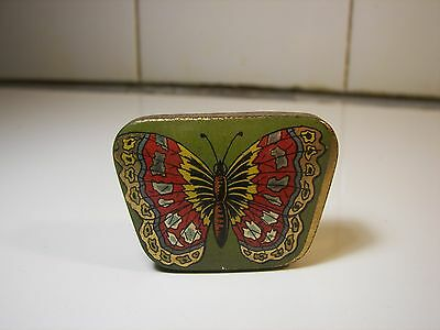 Rare Ad Sewing Hooks BUTTERFLY Tin 1900's Schmetterling Nähe Blechdose #4