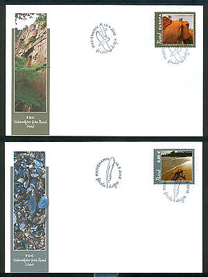 ALAND 2010 stamps Scenery Eckero / Sund on 2 FDC