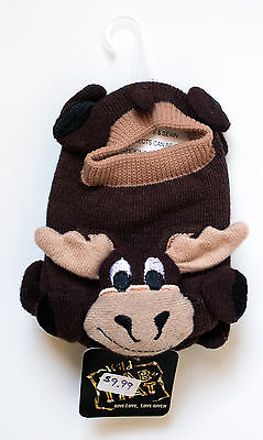 One pair of moose baby toddler stretch booties one size fits most