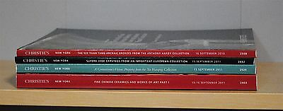 Lot of 4 Christie's Fine Chinese Ceramics Works of Art Jades Bronzes Paintings