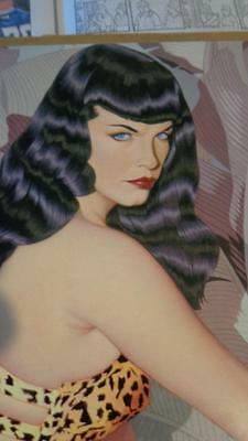 Betty Page  Olivia De Berardinis1994 Tin Pin Up Size 15 x 11 Very Good Condition
