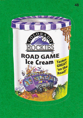 2016 Topps Wacky Packages Mlb - Colorado Rockies Road Game Ice Cream - Green!!!