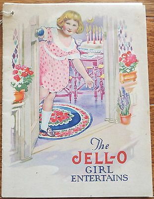 Rose O'Neill Jell-O Recipe Booklet ~ The Jell-O Girl Entertains c1915