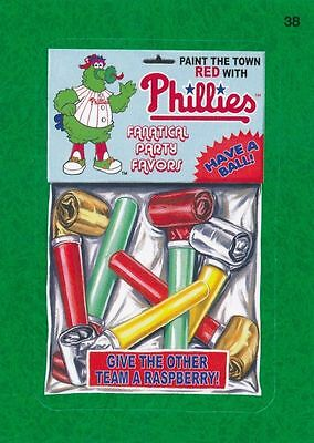 2016 Topps Wacky Packages Mlb - Philadelphia Philles Fanatical Party Favors Gg!