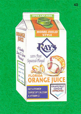 2016 Topps Wacky Packages Mlb - Tampa Bay Rays Florida Orange Juice Sticker #gg