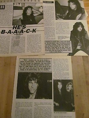 Alice Cooper, Three Page Vintage Clipping