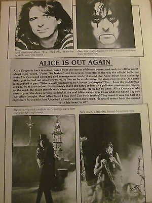 Alice Cooper, Full Page Vintage Clipping