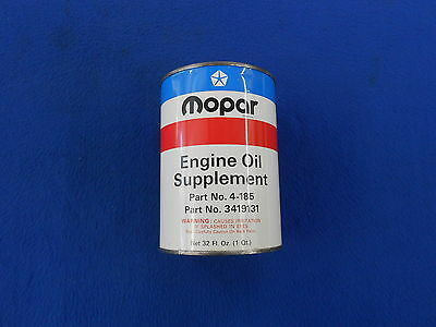Vintage MOPAR OIL CAN Original Metal Painted 1972 Engine Oil Supplement 426 HEMI
