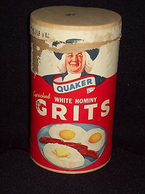 Vintage Quaker Grits Cardboard Container