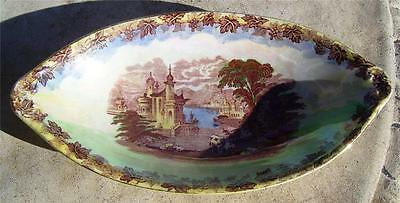 Pretty Vintage Maling England Lustre Ware Country Scene Dish