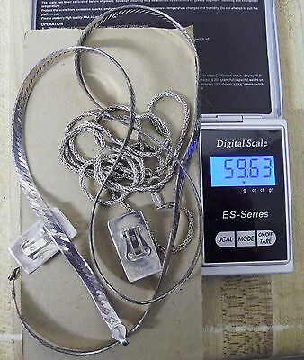 59.63 Grams Of Sterling Silver  - .925 Jewerly