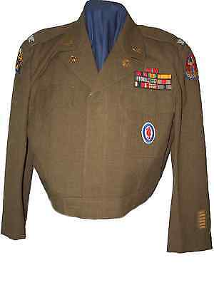WWII US Army D-Day Colonel 487th Port BN Ike Jacket Uniform Photos Group USMC